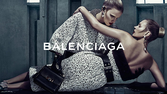 Kate Moss and Lara Stone for Balenciaga's Fall 2015 Campaign
