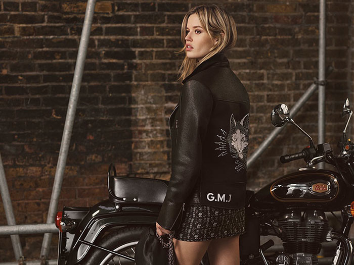 Georgia May Jagger Designs a Biker Collection for Mulberry