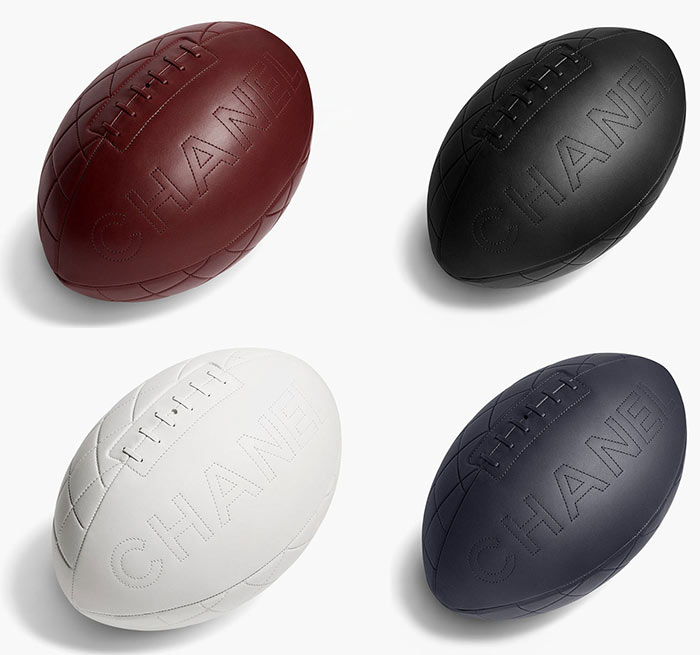 Chanel Designs Rugby Balls
