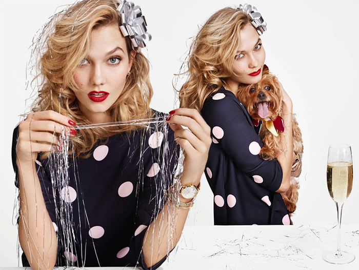 Karlie Kloss for Kate Spade Holiday 2015 Campaign