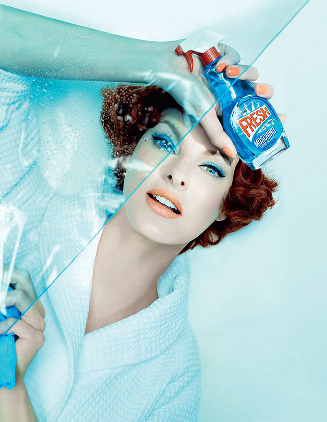Linda Evangelista for Moschino's Fresh Couture Fragrance