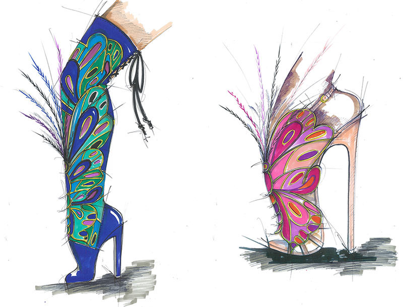 Brian Atwood Shoes for Victoria's Secret Fashion Show 2015