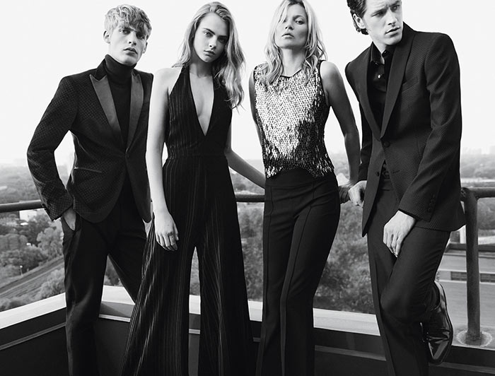 Cara Delevingne and Kate Moss in Mango's Holiday 2015 Campaign
