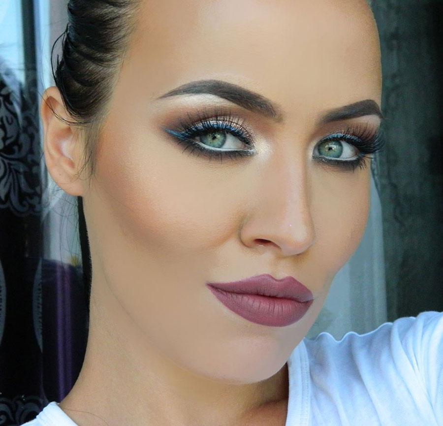 Metallic Eye Makeup Ideas for Fall