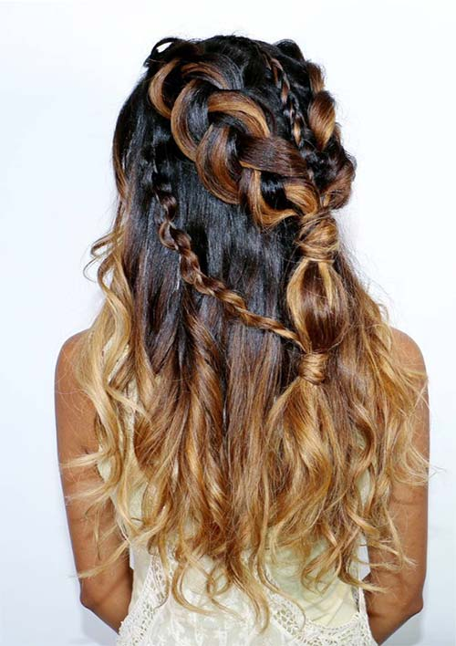 100 Ridiculously Awesome Braided Hairstyles: Boho Diagonal Braids