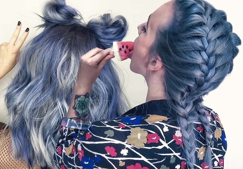 50 Magically Blue Denim Hair Colors You Will Love ...