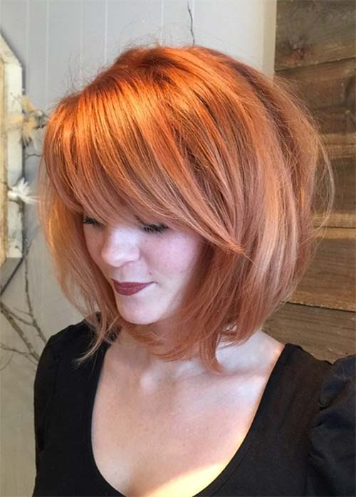55 Incredible Short Bob Hairstyles Haircuts With Bangs Fashionisers C