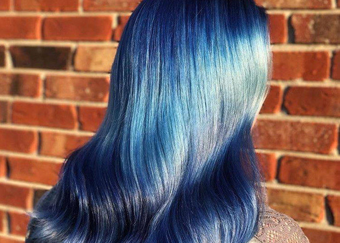Ocean Hair Trend Blue Uniform Waves Hair
