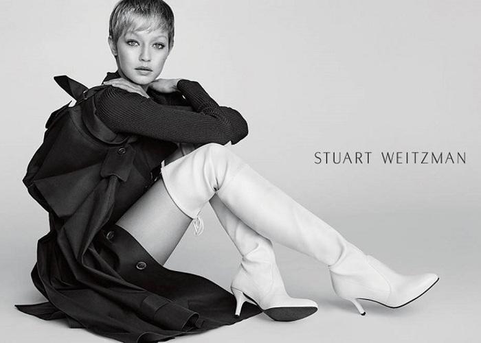 Gigi Hadid Flaunts a Pixie Cut in Stuart Weitzman's New Campaign