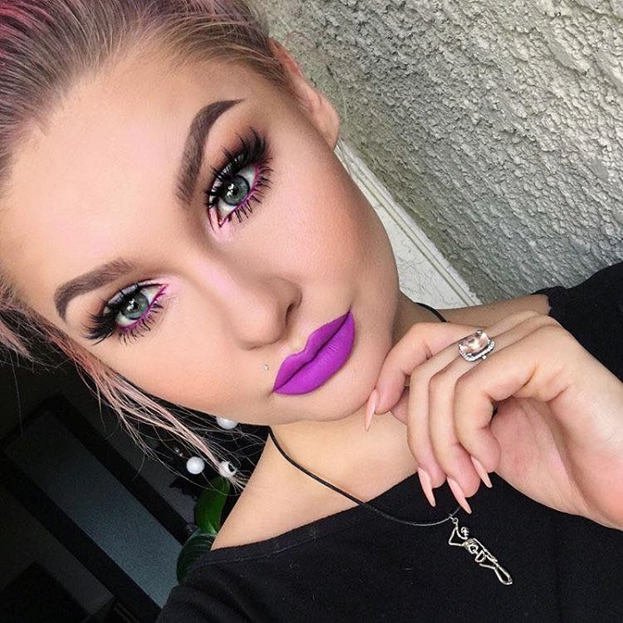 Insane Lipstick Colors Ideal For Party Season purple lipstick