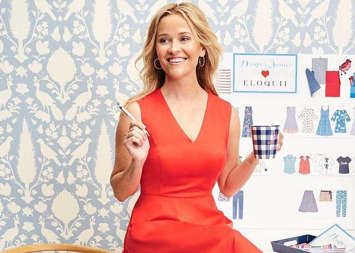 Reese Witherspoon's Draper James Gets into Plus Sizing with Eloquii orange dress