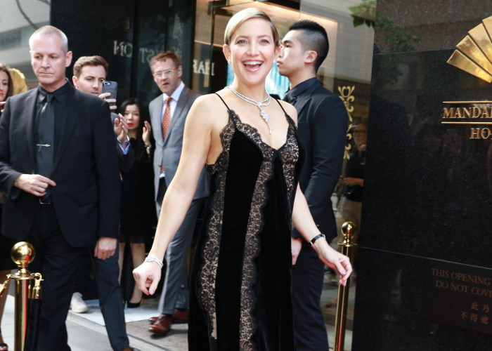 Pregnant Kate Hudson Sports Lingerie Inspired Dress