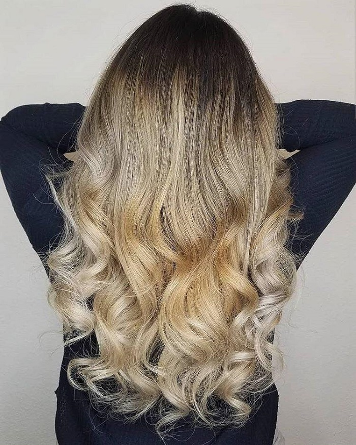 Biggest Hair Color Trends for Summer 2018 gold ombre