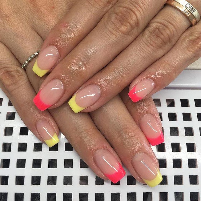 Neon-Nail-Designs-To-Finish-Off-Summer-With-Style french neon