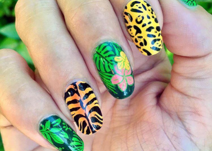 Summer Mood Tropical Nail Designs