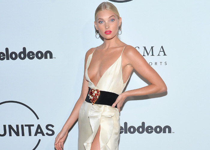 The Hottest Celebrity Silk Dresses Elsa Hosk