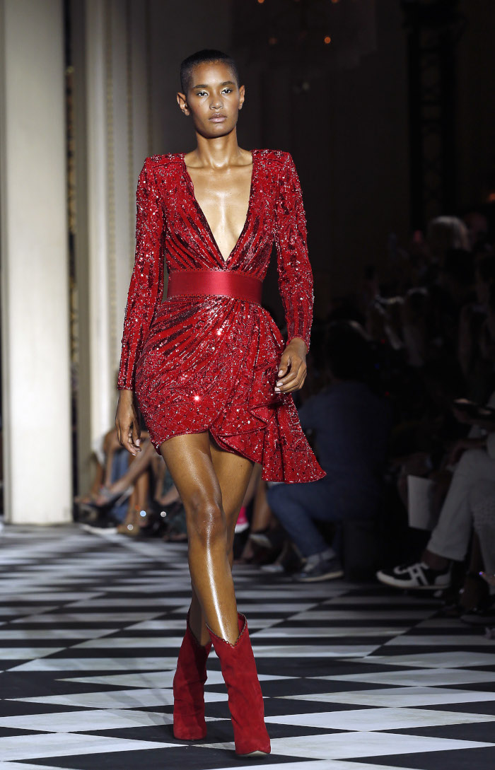 Zuhair-Murad-Fall-2018-Couture-at-Haute-Couture-Paris-Fashion-Week red dress
