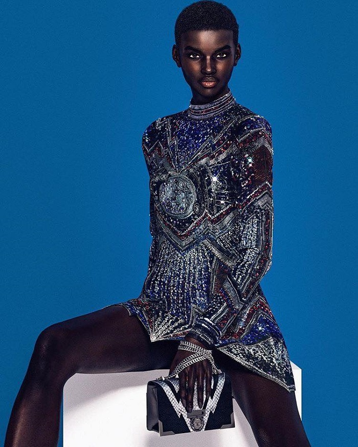 Balmain-Taps-Digital-Models-To-Front-Their-New-Campaign-embellished dress