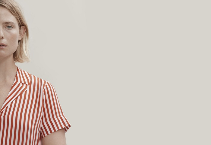 "Everlane-Is-Launching-Sustainable-""Clean-Silk""-stripe top"