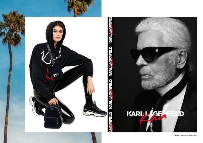Kaia-Gerber's-Capsule-For-Karl-Lagerfeld-Is-Here-black leggings hoodie
