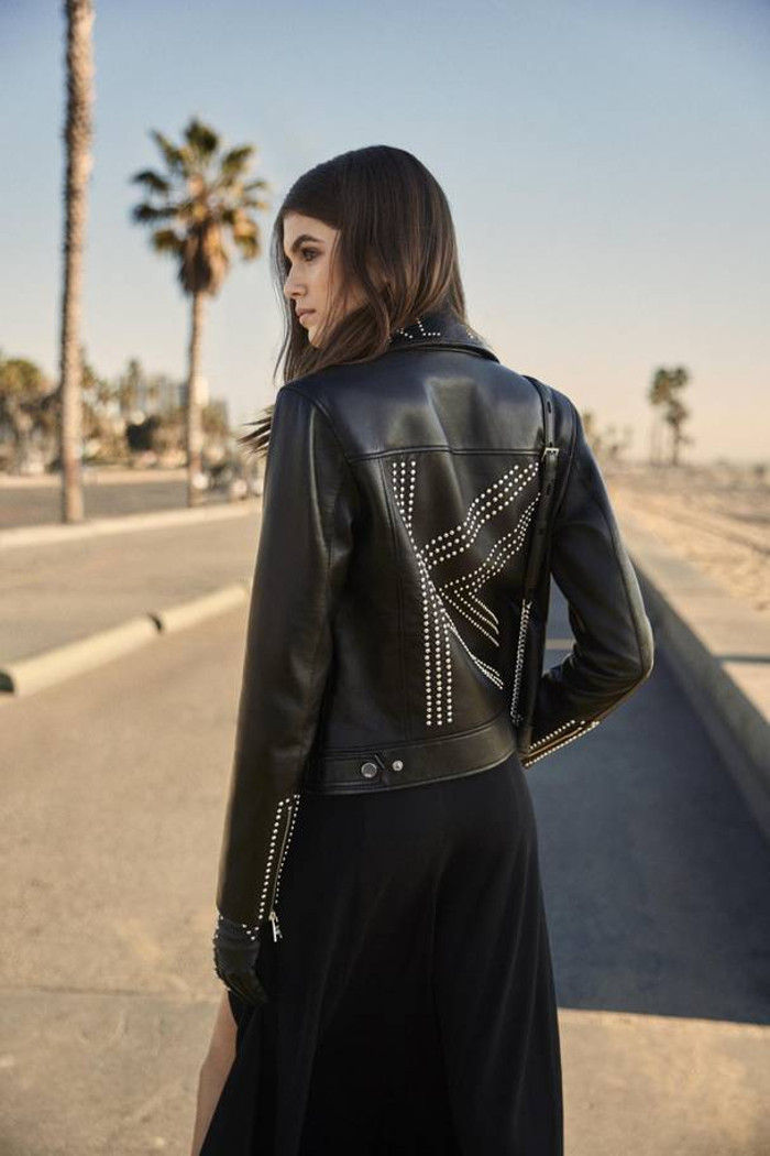 Kaia-Gerber's-Capsule-For-Karl-Lagerfeld-Is-Here-black dress jacket