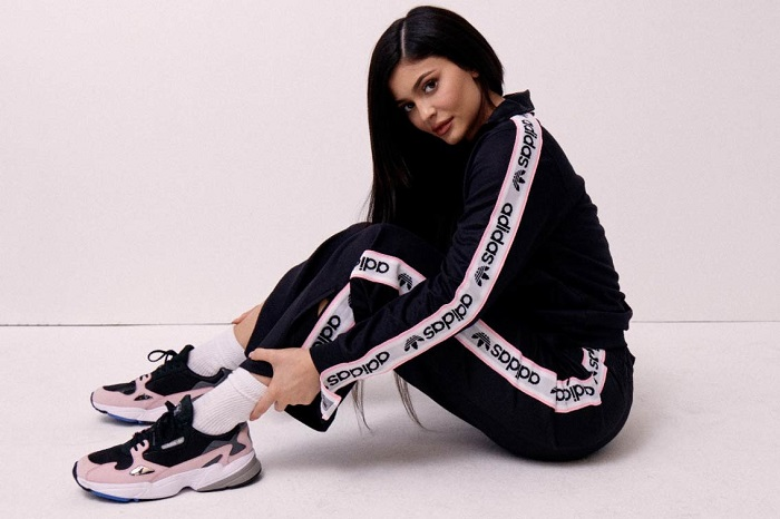 Kylie-Jenner-Is-The-New-Adidas-Ambassador-pink sneakers