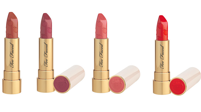 Too Faced Adds New Products To The Peaches & Cream Collection peach lipsticks