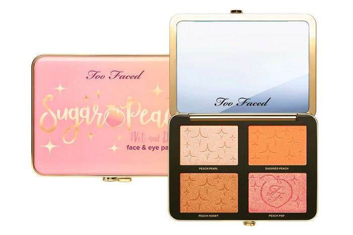 Too Faced Adds New Products To The Peaches & Cream Collection wet dry face eyes palette
