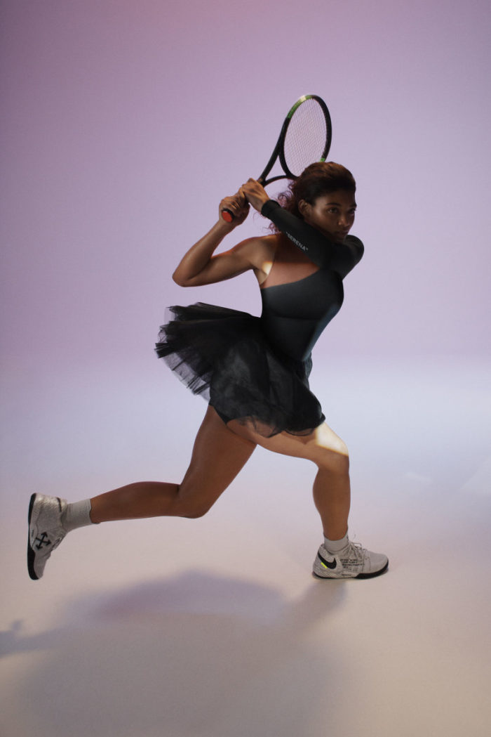 "Virgil-Abloh-Nike-Serena-Williams-Team-Up-For-""Queen-Collection""-black dress"