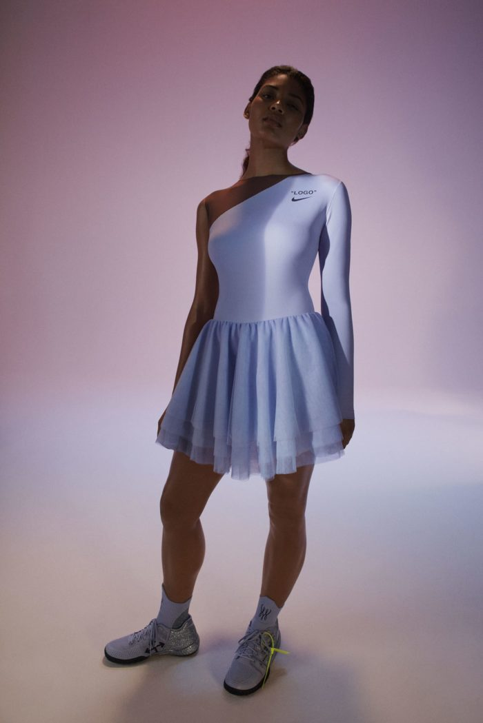 "Virgil-Abloh-Nike-Serena-Williams-Team-Up-For-""Queen-Collection""-white dress"