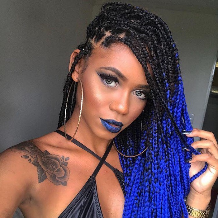Gorgeous-Box-Braided-Hairstyles-To-Try-blue braids