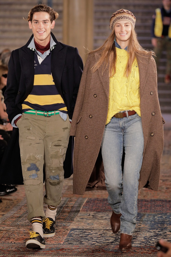 Ralph Lauren Spring 2019 RTW Collection at NYFW jeans coat sweater