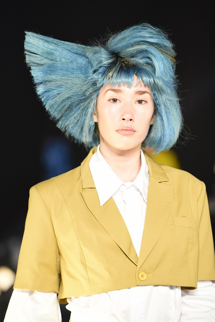 The Most Epic Hair Moments From Spring 2019 NYFW VFiles blue hair