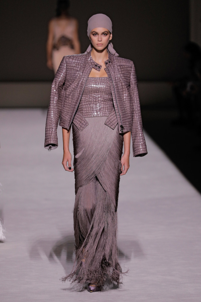 Tom-Ford-Spring-2019-RTW-Colection-at-NYFW Kaia Gerber