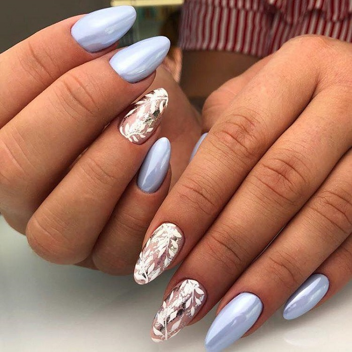Wedding-Nail-Art-For-The-Sophisticated-Bride-blue metallic