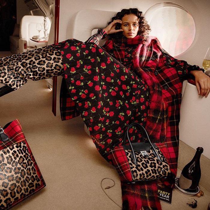 Will-Michael-Kors-Kill-Versace's-Italian-Glamour-floral dress animal print boots bag