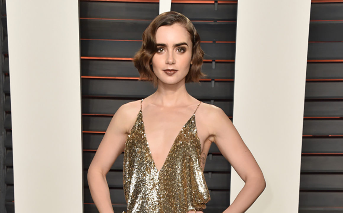 Get-in-On-Trend-Every-Gold-Dress-Celebrities-Have-Worn-Lily-Collins