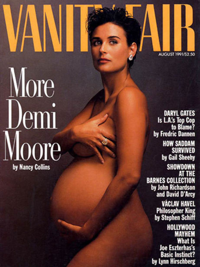 The-Most-Memorable-Celeb-Maternity-Covers-Demi-Moore