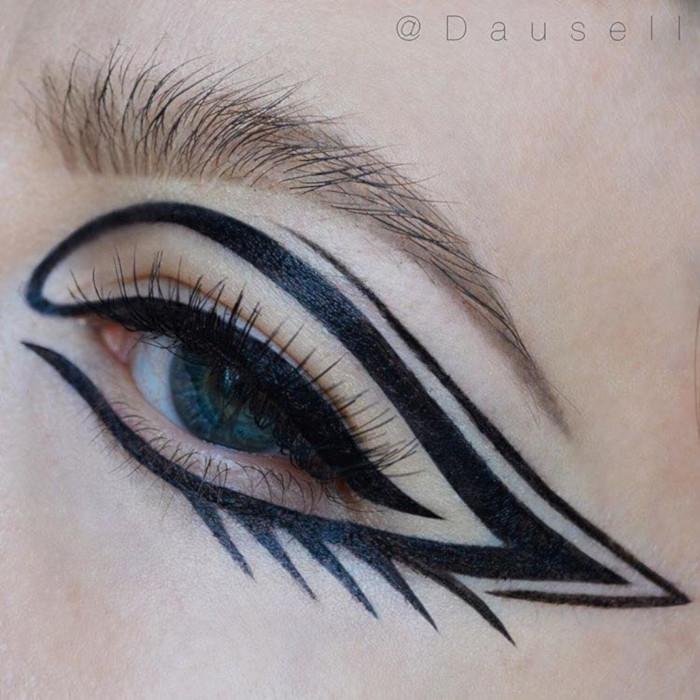 The-Prettirest-Black-Eyeliner-Looks graphic eyeliner