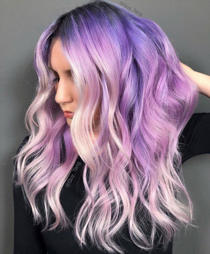 Bold-Hair-Colors-to-Try-in-2019 lavender hair