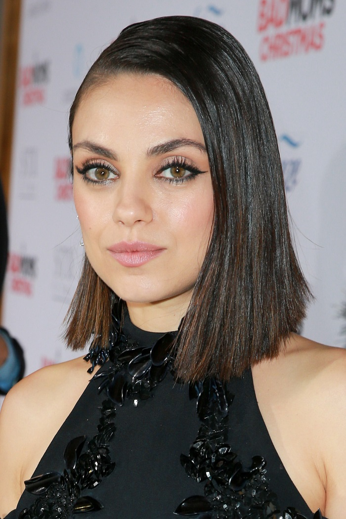 Celebrity-Approved Short Hairstyles For A Round Face mila kunis