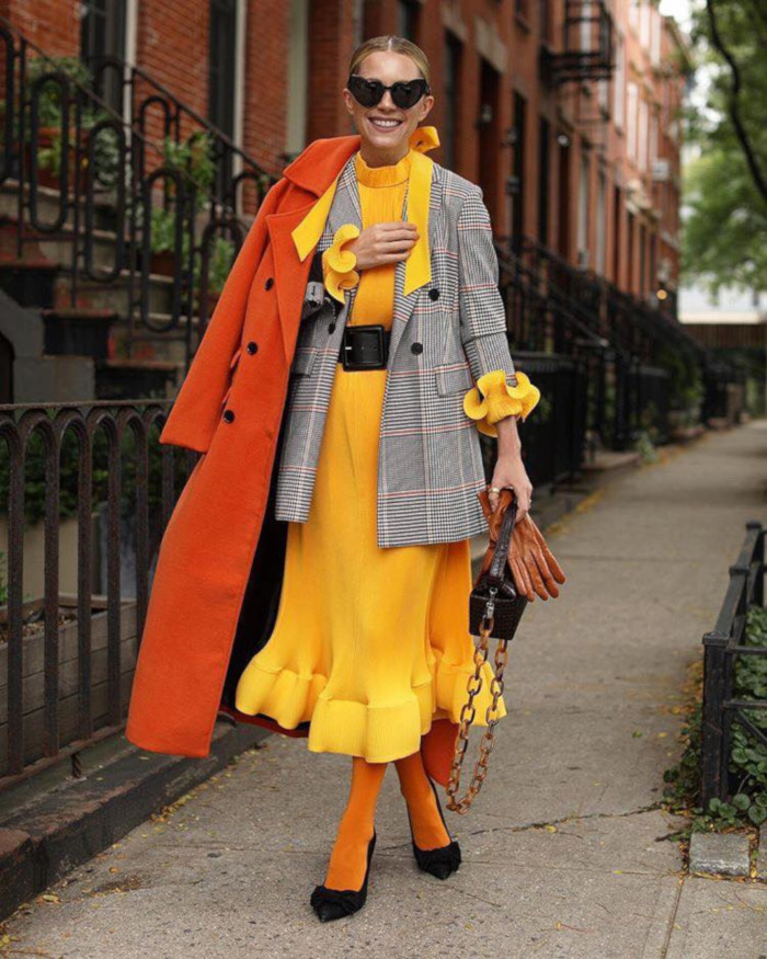 Flattering-Layered-Looks-for-Your-Body yellow dress