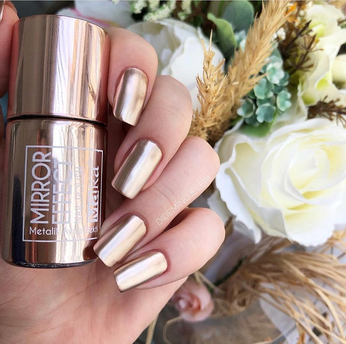 Metallic-Nail-Art-To-Shine-All-The-Way-gold