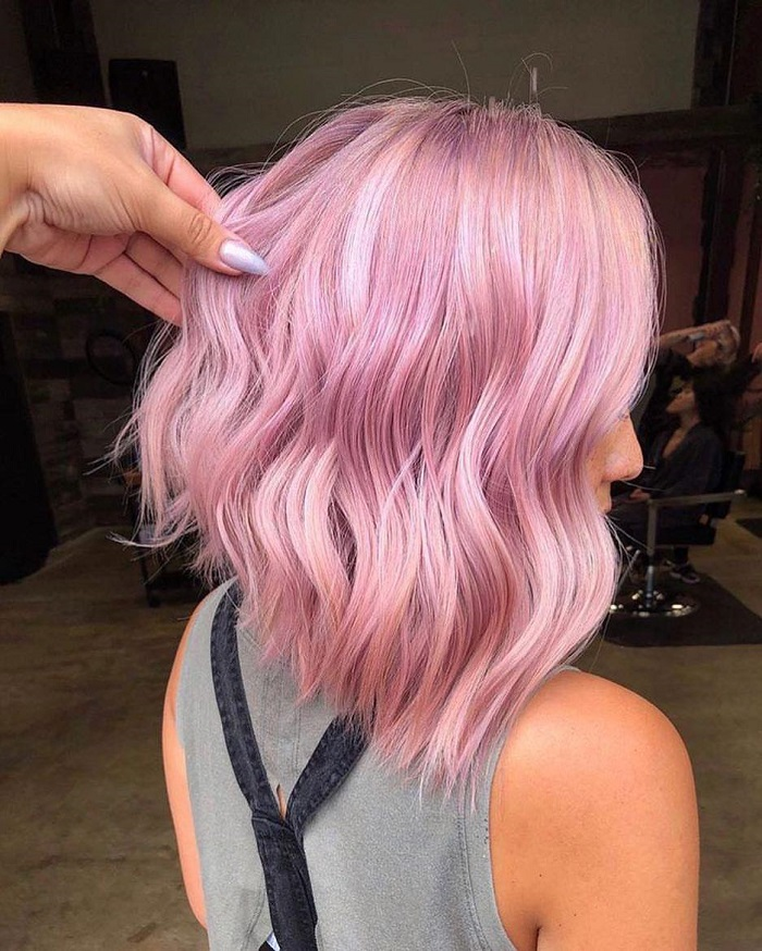 The Most Vibrant Hair Colors That Are Still Trending This Winter cotton candy
