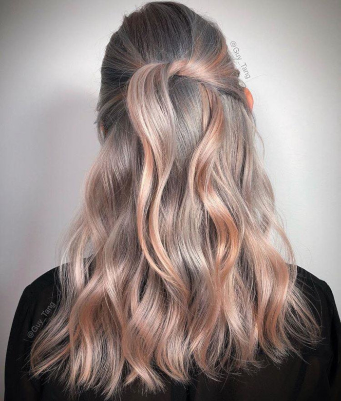 The-Prettiest-Metallic-Hair-Colors-To-Try-This-Winter-silver-pastel-orange-hair