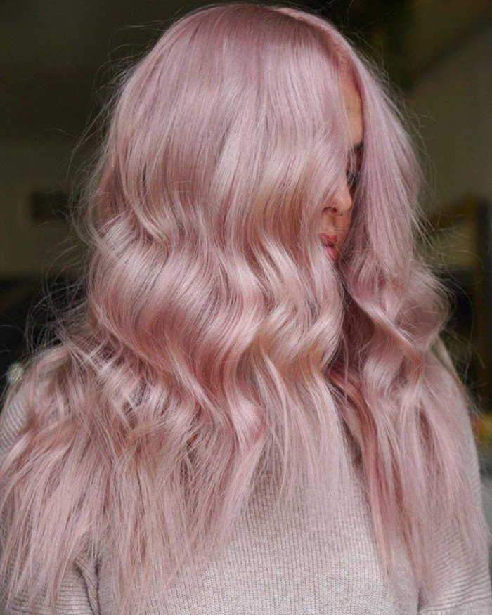Best Hair Colors To Rock This Summer baby pink