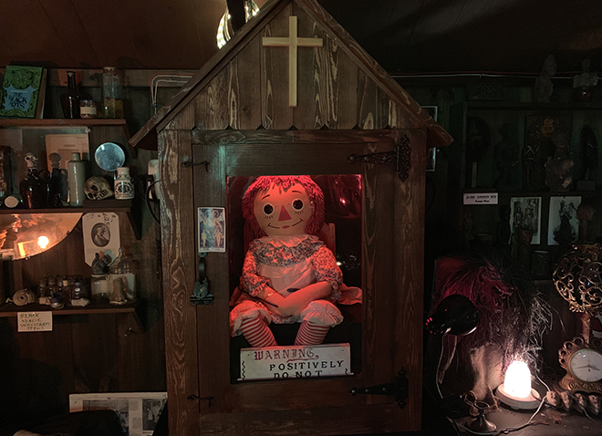 the-real-annabelle-doll-at-the-warren's-occult-museum-malorie-mackey-nespr