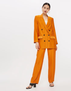 halloween inspired outfit ideas orange blazer