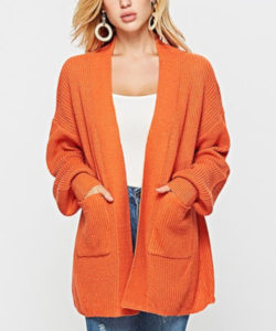 halloween inspired outfit ideas orange cardigan