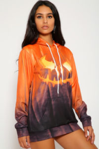 halloween inspired outfit ideas orange sweater